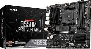 Msi b550m pro-vdh wifi+ssd 512gb