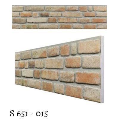 Panou decorativ cu rasina minerala, textura caramida Slim S-651-004