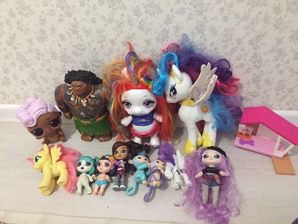 Продам игрушки для девочек, единороги , кукулы Лол оригинал