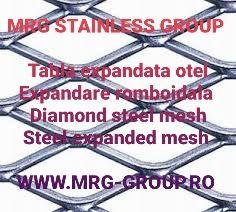 Tabla otel expandata 3mm 43x20 aluminiu inix zincata perforata sita