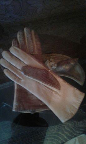 Продам перчатки, р. 6 кожа.