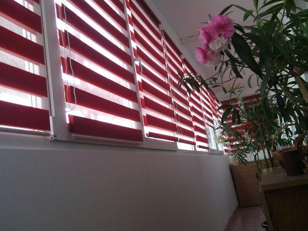Rolete caseta material textil, zebra, blackout