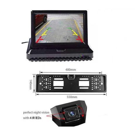 """Kit 2 în 1 suport numar cu camera marsarier și monitor LCD 4.3"""""""
