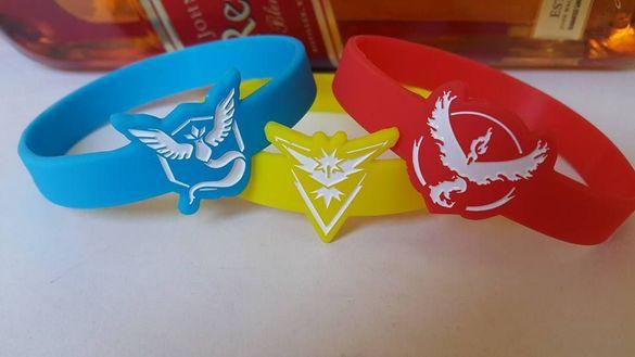 Силиконови Гривни Pokemon GO - Team Valor,Mystic,Instinct