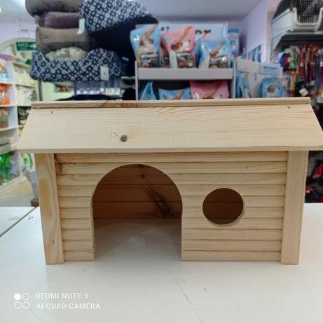 Домик деревянный для грызунов, домик для кроликов, морских свинок