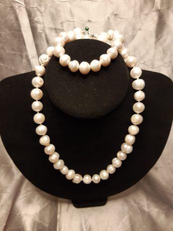 Set colier Perle si brățară