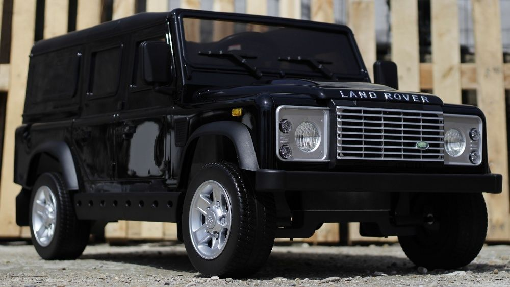 Masinuta electrica pentru copii Land Rover Defender 2x35W 12V #Negru Targu-Mures - imagine 1