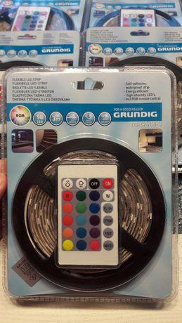 Grunding RGB многоцвентна лента 3 м с дистанционно и адаптори