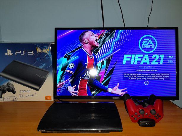 Play Station 3 (PS3) Super Slim Modat FIFA 21/GTA 5/MK/NFS/UFC/NBA/BOX