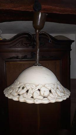 Lustra pendul cu abajur ceramica