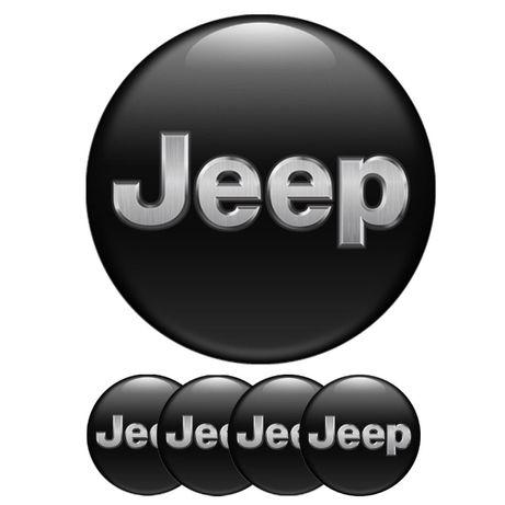 Силиконови стикери за капачки на джанти Jeep размери 40мм до 90