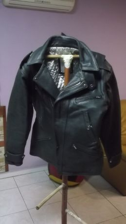мъжко рокерско яке естествена кожа