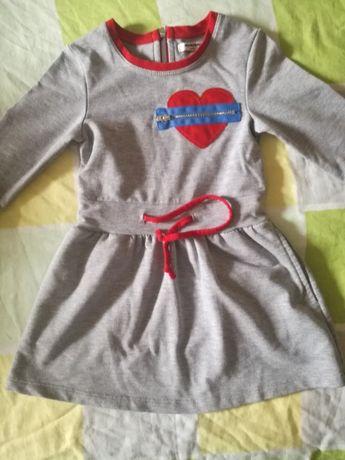Платье новое, на 3 года, теплое Мимиорики