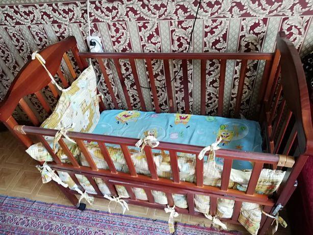 Детская кроватка Манеж с матрасом