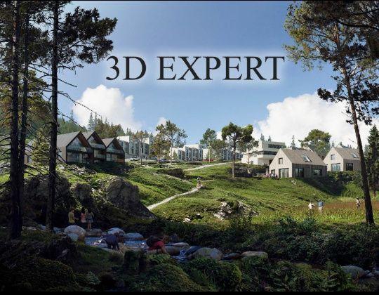 Эскизные проекты.3d визуализация и анимация.Оформление документов