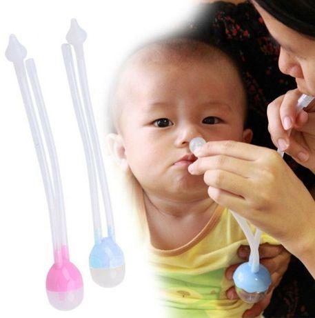 Много удобна помпичка за нос/ аспиратор за бебе за вадене на секрети