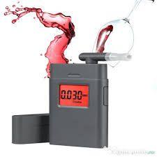 Etilotest Digital Profesional (alcool tester) cu 10 muștiucuri si husa