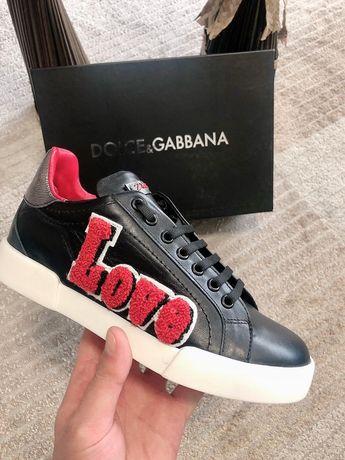 Adidasi Dolce Gabbana LOVE /POZE REALE/piele naturală 100%