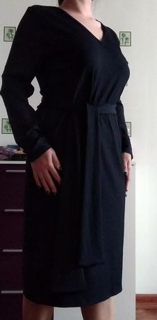 Черное платье-лапша