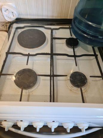 Продам б/у электро-газовую плиту