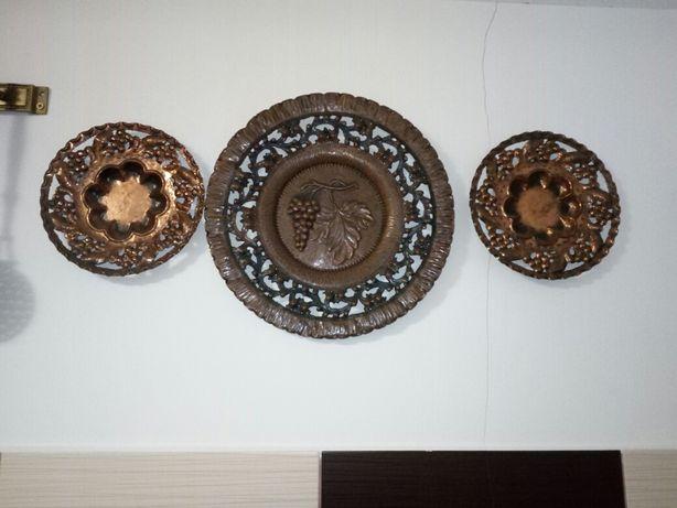 Obiecte decor , metaloplastie ,alama cupru,fier patinat cu alama