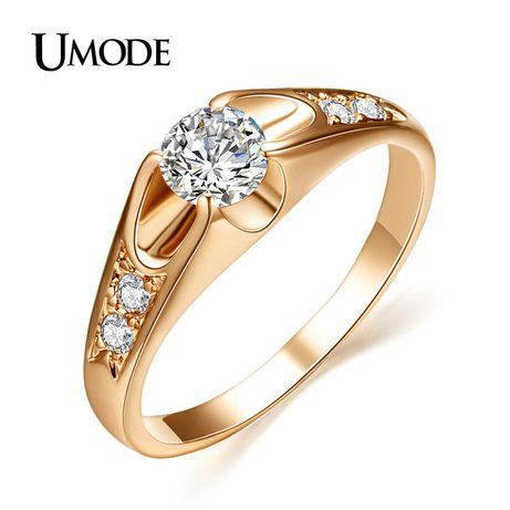 Vand inele placate cu aur roz sau alb cu pietre de zirconiu