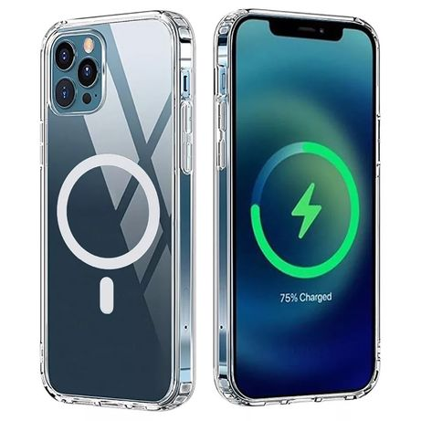 Iphone 11 12 MINI / PRO / MAX Husa Magnetica MAGSAFE Silicon Clara