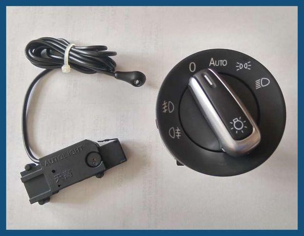 Bloc lumini / comutator faruri ornament crom + senzor lumina VW