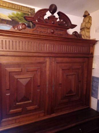 Mobila veche lemn masiv Chippendalle
