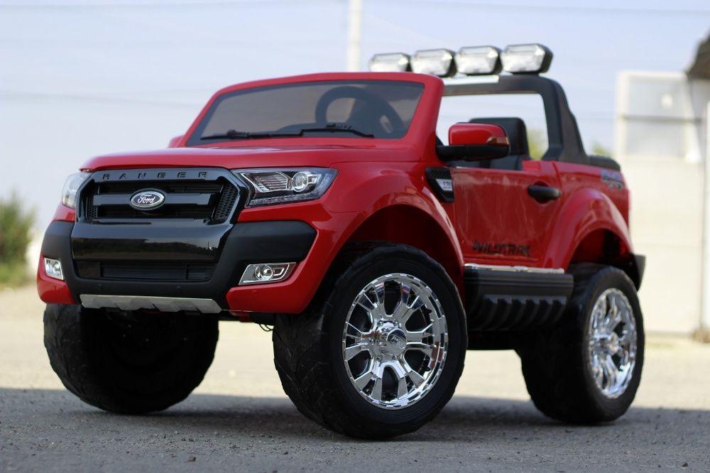 Masinuta electrica pentru copii Ford Ranger 4x4 Nou cu Bluetooth #Rosu Timisoara - imagine 1