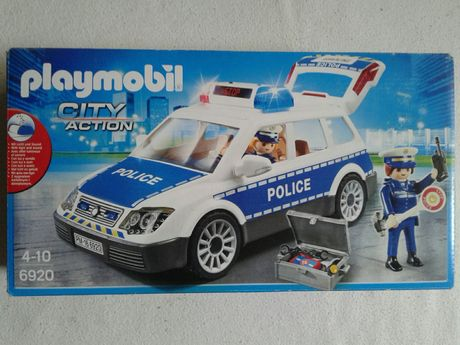 Masina politie Playmobil 6920 cu sunet si lumini, noua, sigilata