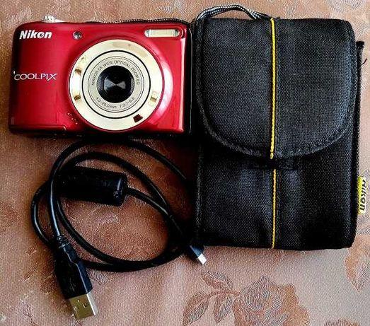 Нов фотоапарат Nikon Coolpix L25 + калъф 100 лв.