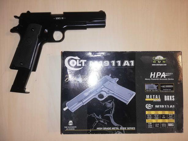 Pistol airsoft Full Metal Colt 1911 cu spring (nu necesita butelii )