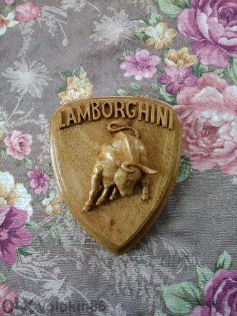 Емблема дърворезба Lamborghini