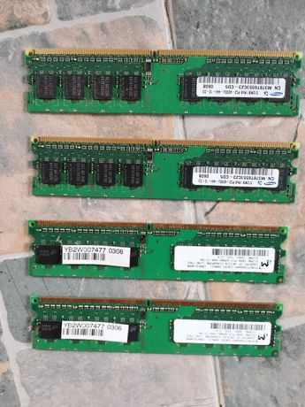 Vand 5 placute ram DDR2 512 MB fiecare preț 20 de lei toate 5