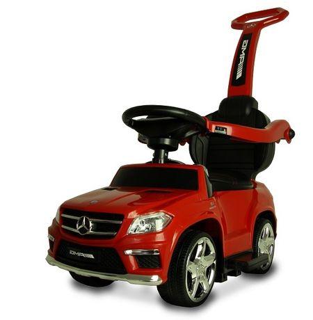 Masinuta cu maner pentru copii 3 in 1 Mercedes GL63 AMG PREMIUM #Rosu