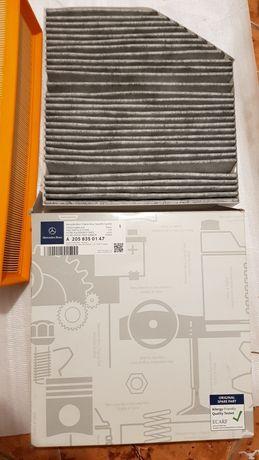 filtru aer si filtru habitaclu Mercedes C klasse W205 A2058350147 si A