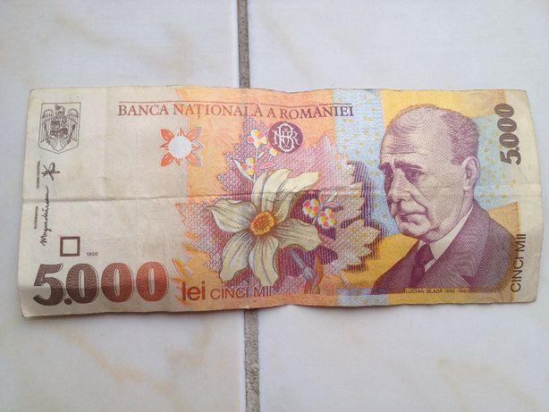 Bancnota 5,000 lei din 1998