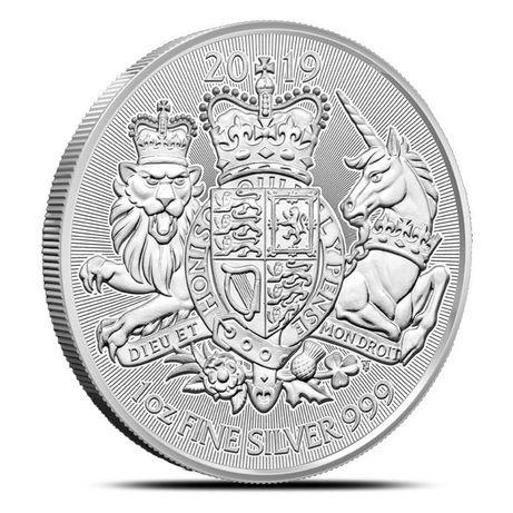 Moneda argint 999 lingou, The Royal Arms 2019 1 uncie