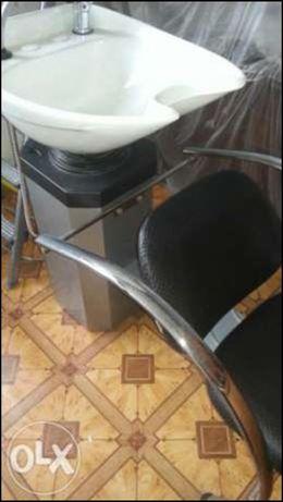 Намалявам - Фризьорска измивна колона и помощна  количка