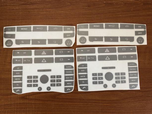 Stickere butoane Ford radio cd Sony 6000 + clima