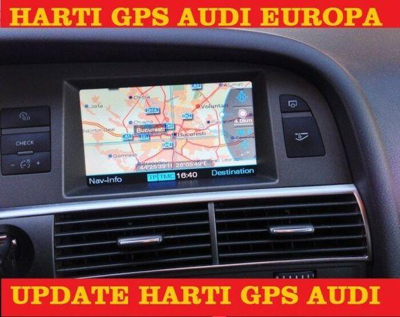 Dvd Navigatie Audi MMI 2G Pt A4 A5 A6 A8 Q7 Europa+Romania 2020