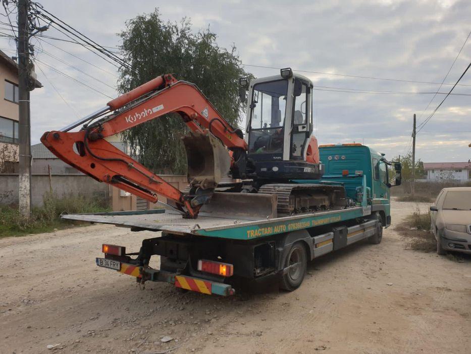 Tractari auto moto Transport utilaje Platforma hidraulica rampa Bucuresti - imagine 1