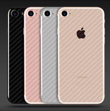 Folie Carbon spate iPhone 7/8 pentru protectie transparenta