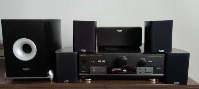 Amplificator (Audio-Video receiver) Technics SA-DX750+sistem audio 5.1