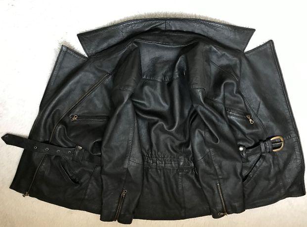 Geaca neagra dama piele naturala fina manusa 5 buzunare haina femei