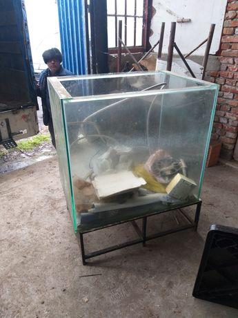 vand acvariu 2m3 și două mese inox 1700 lei!!!