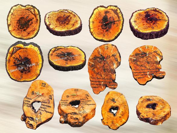 Изработка на часовници и украшения от дърво, подаръци