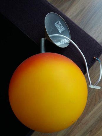 Vand lampa suspendata portocalie