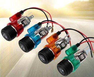 Запалка за кола автомобил бус 12v червена зелена синя оранжева
